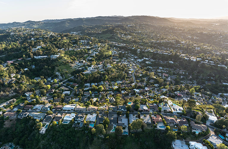 view of west hollywood, california homes