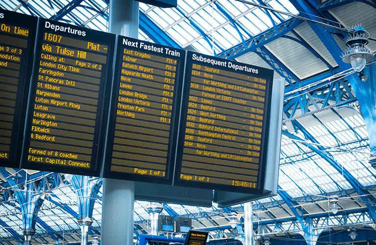 train terminal board